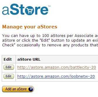 Creating an aStore Step 1