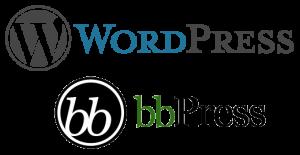 bbpress & wordpress combined logo